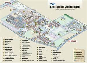 map of hospitals bed and breakfast near south tyneside hospital