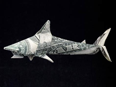Shark Origami - 20 cool exles of dollar bill origami bored panda