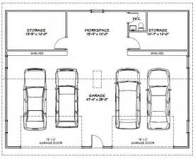 car garage size room shown inside wall clear space building plans online 14340