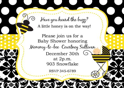 Bumble Bee Baby Shower Ideas Free Printable Baby Shower Invitations Templates Bumble Bee Invitation Template Free