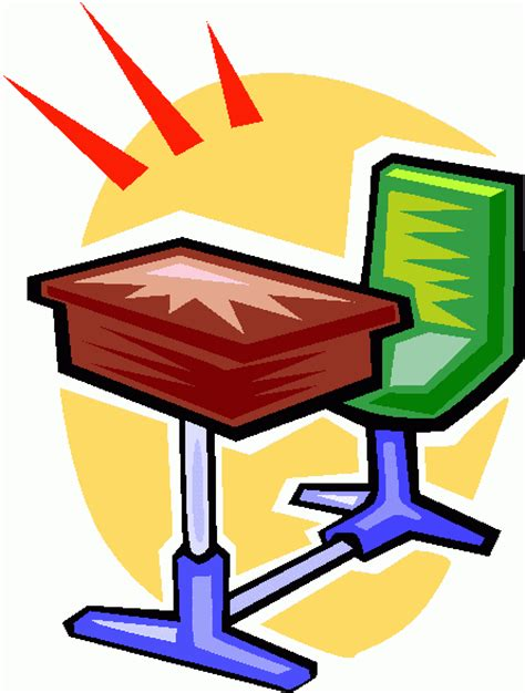 School Desk Clip Art Clipart Best Student In Desk Clipart