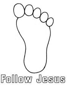 follow in jesus footsteps footprint template printable