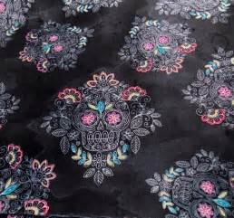 sugar skull fabric sugar skull lace mexican fabric