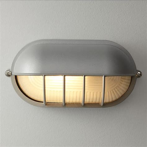 hanover bulk head outdoor wall light grey industrial