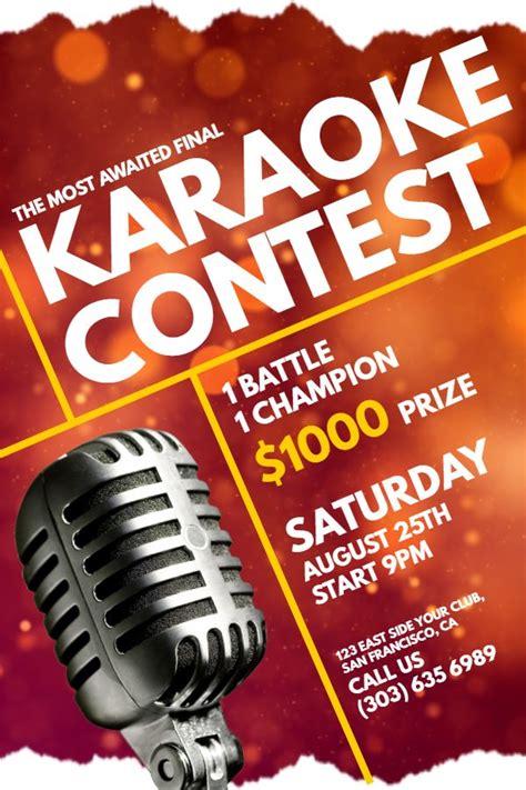 karaoke contest flyer idea click  customize karaoke