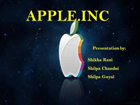 Apple Company Authorstream Apple Inc Powerpoint