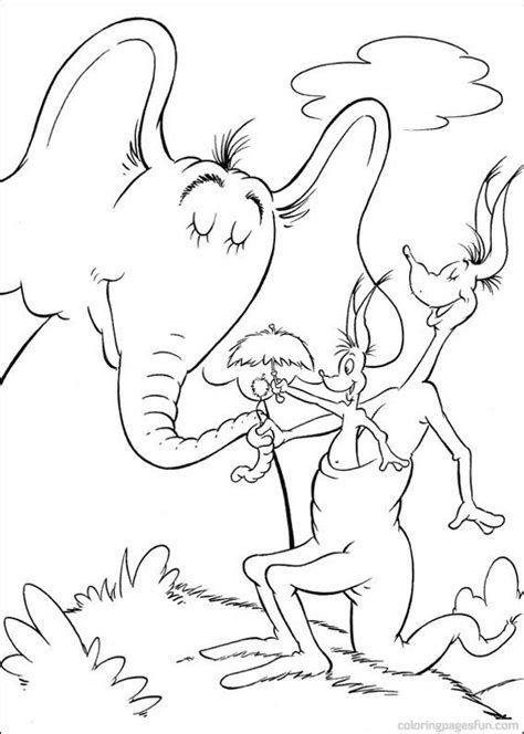 dr seuss coloring page dr seuss horton coloring pages 31 jr s 2nd birthday