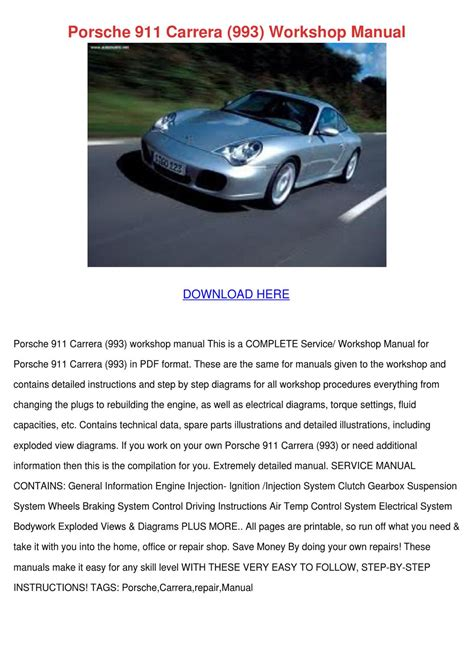 service repair manual free download 2008 porsche 911 security system porsche 911 carrera 993 workshop manual by suzannasong issuu