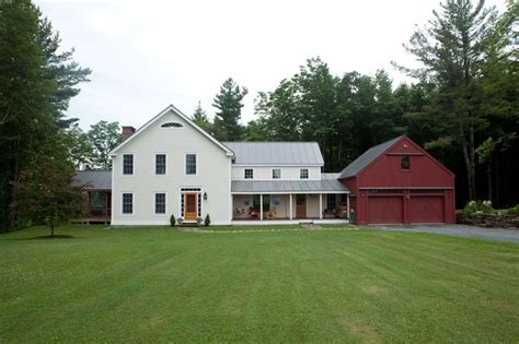 Vermont Vernacular House Plans Butler Middlebury Farmhouse Beams Square And Porch