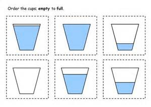 math capacity worksheets kindergarten capacity