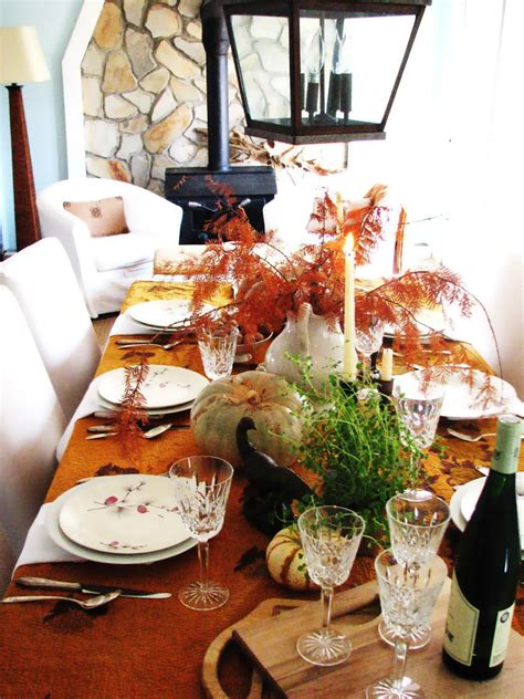 how to decorate your home for thanksgiving extensive white decorating table for thanksgiving with orange fall leafs homes showcase