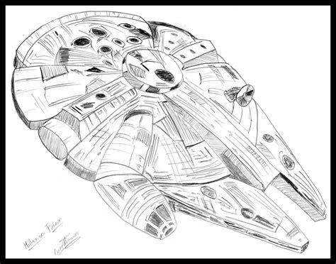 star wars millennium falcon coloring page drawn falcon millennium falcon pencil and in color drawn