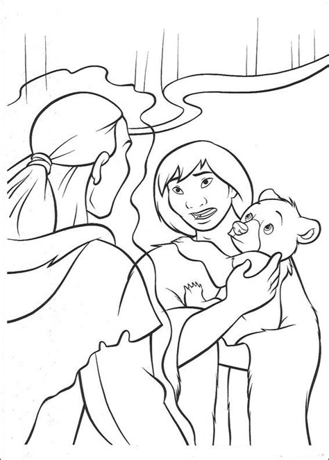 bear den coloring page kids n fun com 52 coloring pages of brother bear