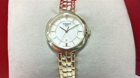 Tissot Flamingo Of Pearl Gold Stainless Steel T09421033 tissot harold finkle your jeweler