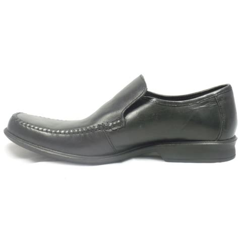 black slip on loafers lotus black leather slip on mens loafers lotus from