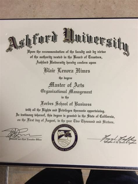 Ba Mba Degree by What Does An Ashford Diploma Look Like Quora
