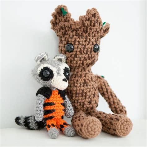 amigurumi pattern groot amigurumi crochet rocket and groot from guardians of the