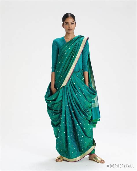 north indian style saree draping let border fall show you to make sari draping into