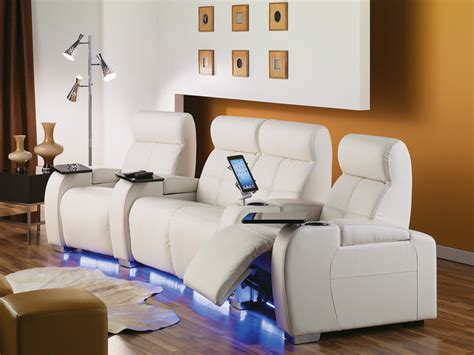leather home theater seating contemporary home theater