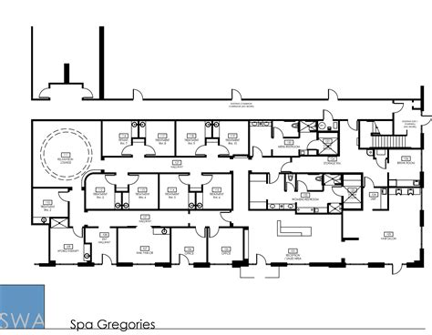 massage spa floor plans massage plan modern house