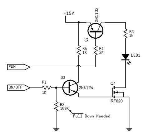 transistor led driver circuit uno unstable pwm linear led drive