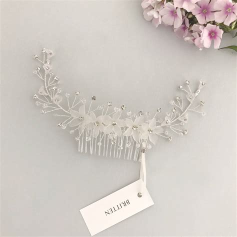 wedding hair comb with chains by britten weddings hair comb for wedding by britten weddings