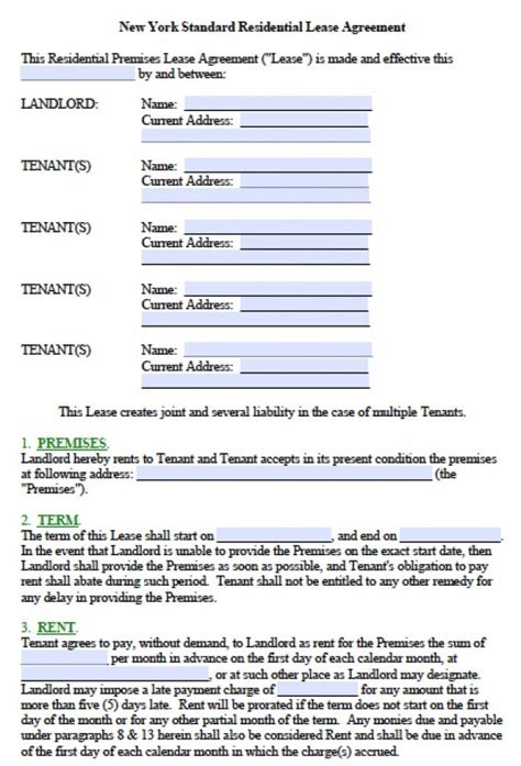%name rental agreement form   Free Missouri Residential Lease Agreement Form ? PDF Template