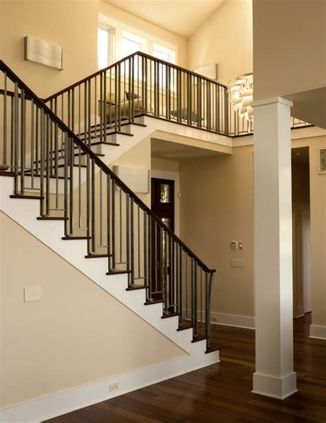 contemporary stair banisters kelly residence