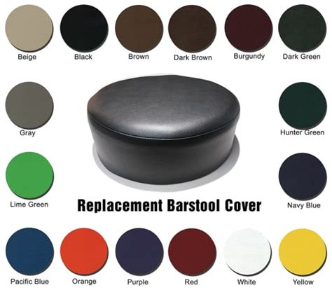Commercial Bar Stool Replacement Seats by Bar Stool Covers Heavy Duty Vinyl Staple On