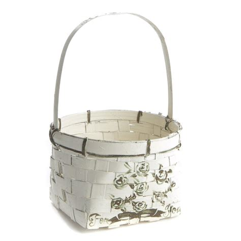 white shabby chic wicker basket baskets buckets boxes home decor