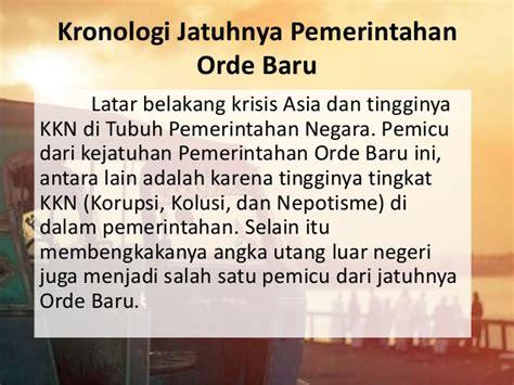 Sejarah Indonesia Dari Proklamasi Sai Orde Reformasi sejarah orde baru reformasi refolusi hijau