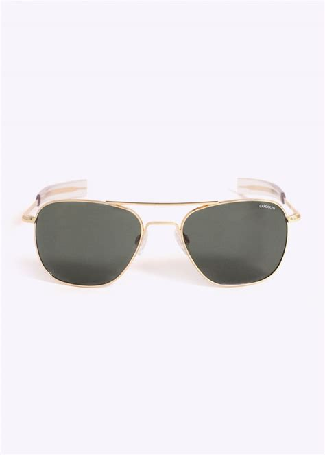 randolph engineering aviator sunglasses gold agx 55
