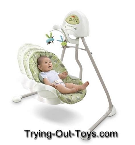 trying swinging cradle baby swings from fisher price trying out toys