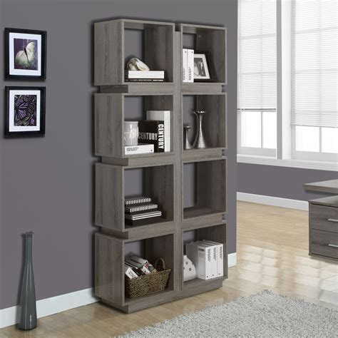 open bookshelf in taupe modern office furniture