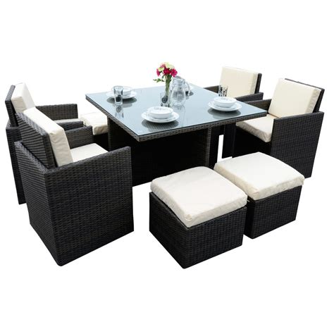 cube patio furniture outdoor rattan wicker weave 4 seater cube set garden patio furniture set new ebay