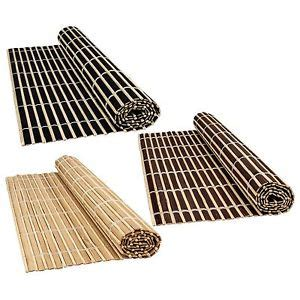 bamboo wood table placemats large serving dining roll up