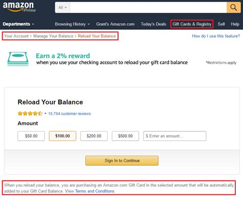 Gift Card Amazon Balance - travel with grant