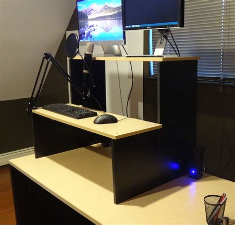 how to make a standing desk 21 diy standing or stand up desk ideas guide patterns
