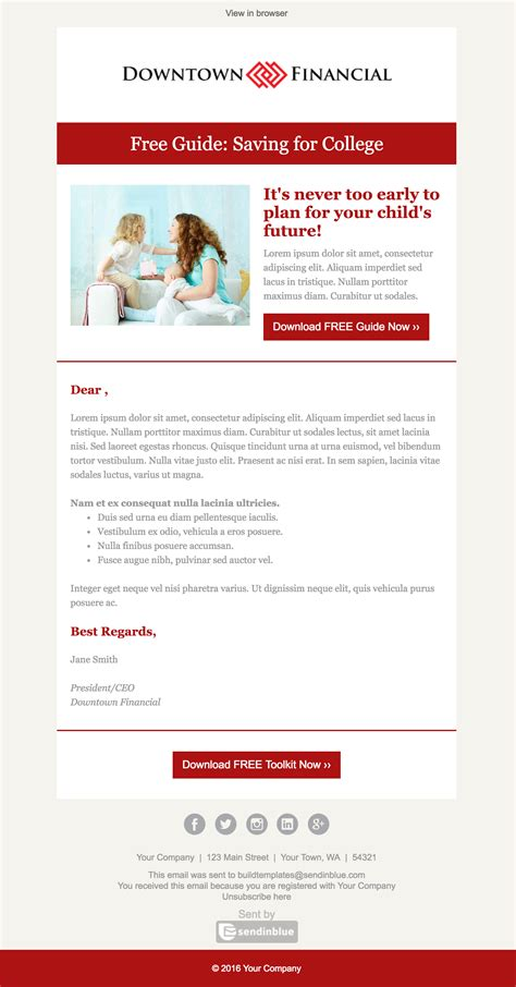 Top 8 B2b Email Templates For Marketers In 2017 Free Email Announcement Template