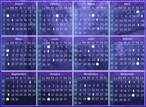 Calendario Lunar Octubre 2017 Usa Calendario Lunar 2016