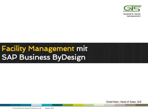 design management mit facility management mit sap business bydesign