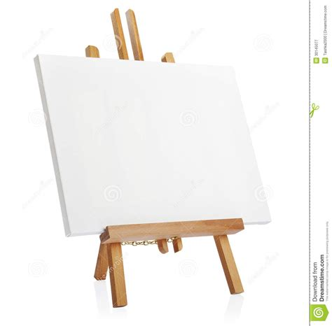 Stand Lukis Frame wooden easel with blank canvas royalty free stock photography image 30145077
