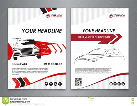 Car Service Post Card Template by A5 A4 Set Service Car Business Card Templates Car Repair