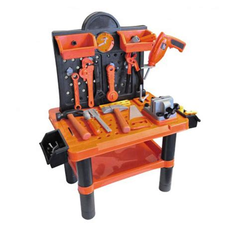 childrens 54pc tool bench play set work shop tools kit