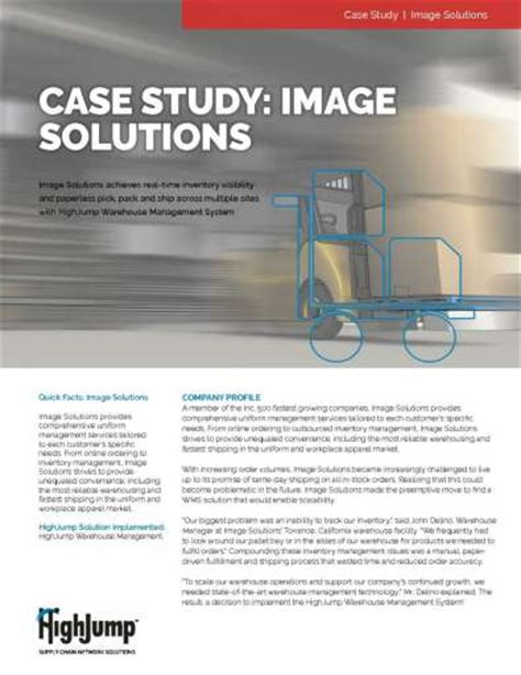3pl rfp template image solutions study achieves real time inventory