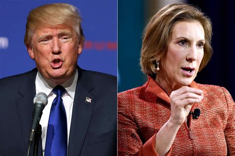 trump slights rival carly fiorinas looks look at that look at that face donald trump insults rival carly