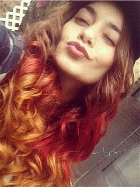 vanessa hudgens dyes her hair red breaking news and vanessa hudgens gets new red hair celebrity hair styles