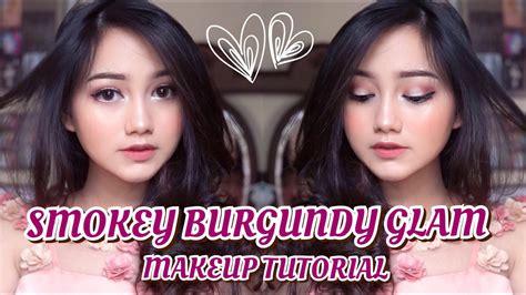 tutorial makeup nanda arsyinta smokey burgundy glam makeup tutorial eng sub modern