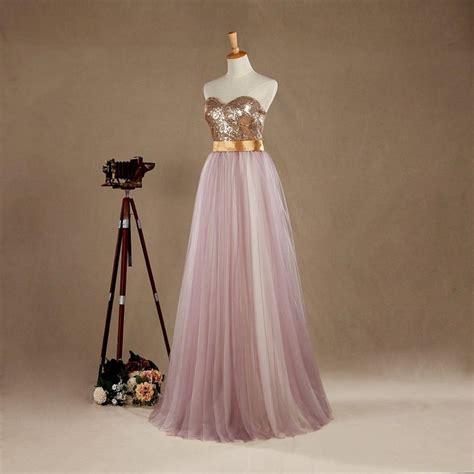 2016 light purple tulle bridesmaid dress wedding dress sweetheart light gold sequin