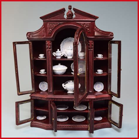 dollhouse 1990s dollhouse china cabinet by bespaq early 1990s 1 quot scale